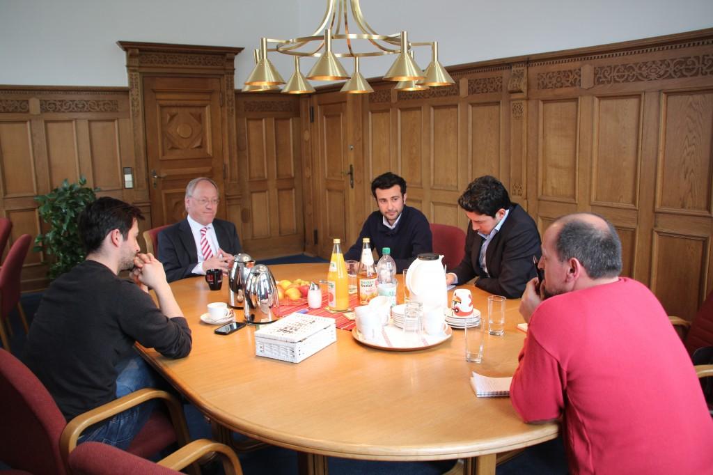 Das BIG beim Oberbürgermeister Pit Clausen (SPD)