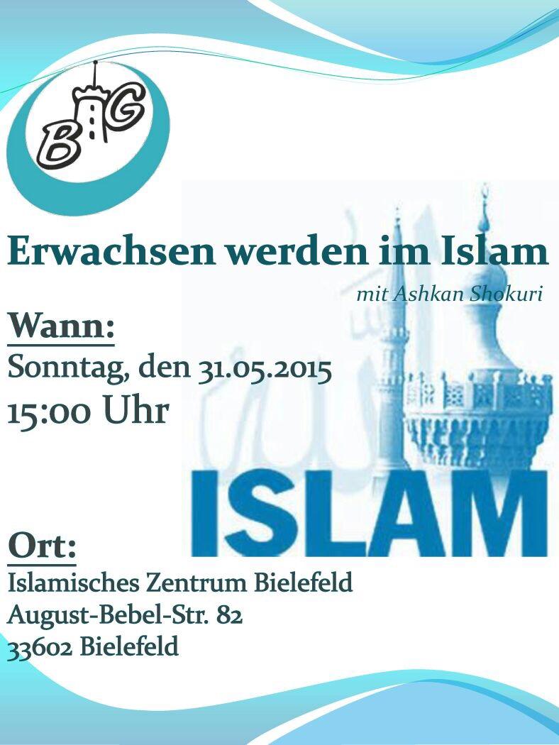 """einladung zum vortrag """"erwachsen werden im islam"""" – big – bündnis, Einladung"""
